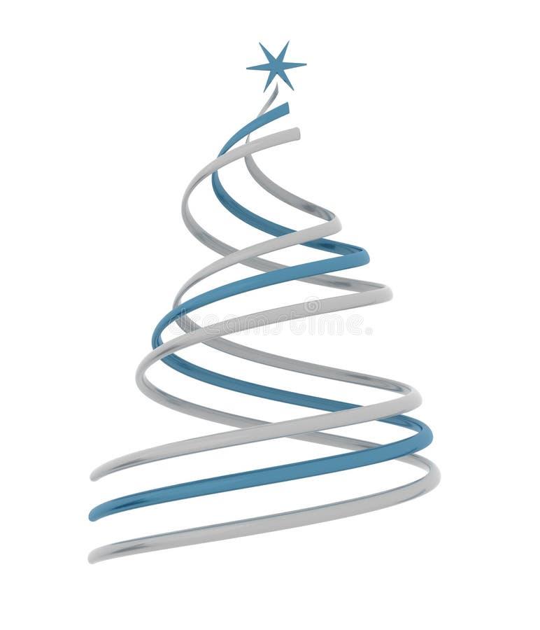 3d christmas tree vector illustration