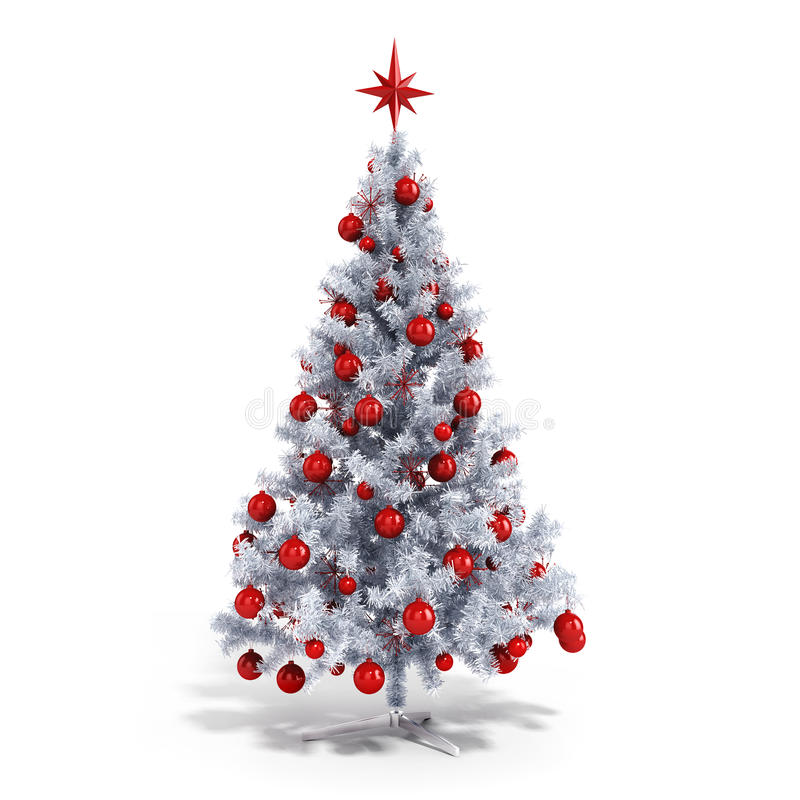 Free 3d Christmas Tree With Colorful Ornaments Royalty Free Stock Photography - 45118707