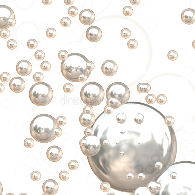Free 3D Chrome Bubbles Royalty Free Stock Photography - 6670527