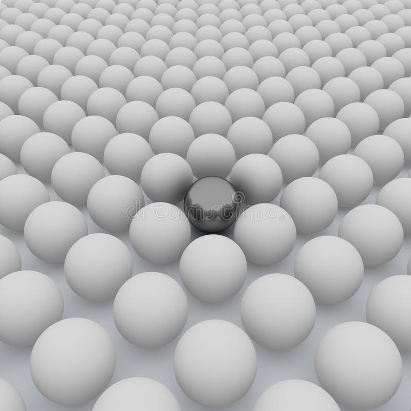 3d the chromeplated sphere in a congestion of sphe stock images
