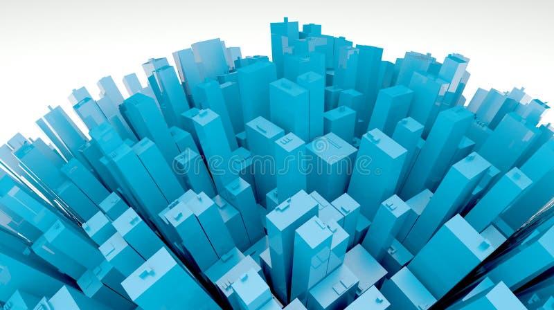 3d cidade futurista, opinião do planeta ilustração royalty free