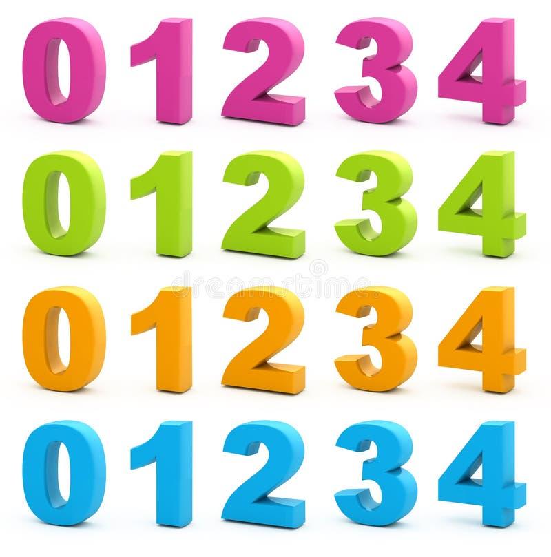 3d cijfers vector illustratie
