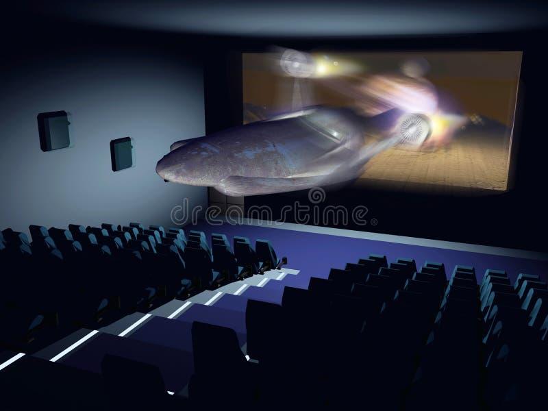 3D cinema stock illustration