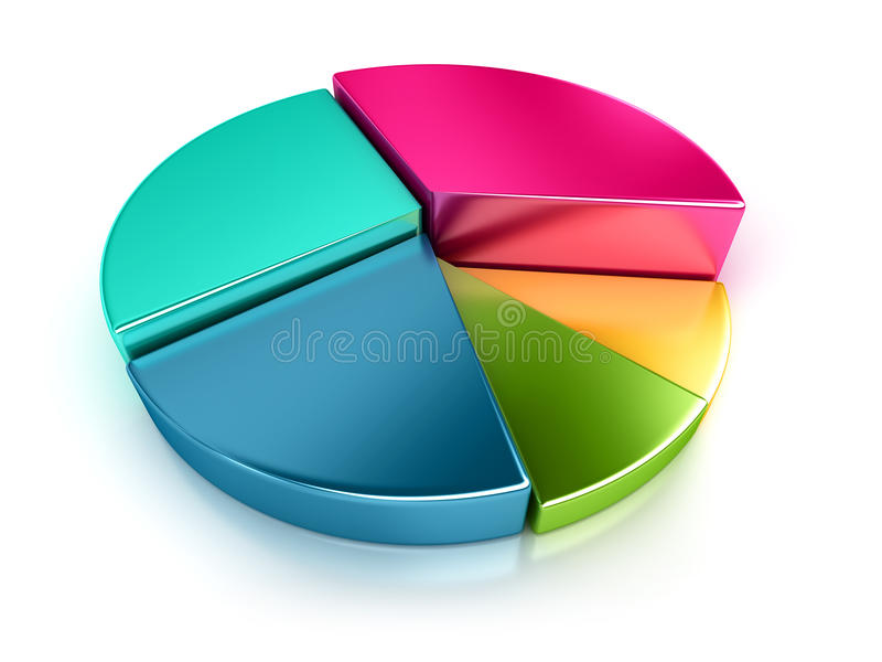 3D cirkeldiagram stock illustratie