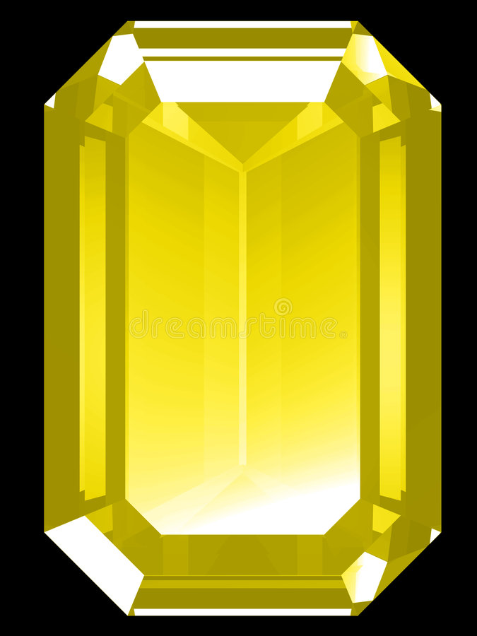 3d Citrine royalty free illustration