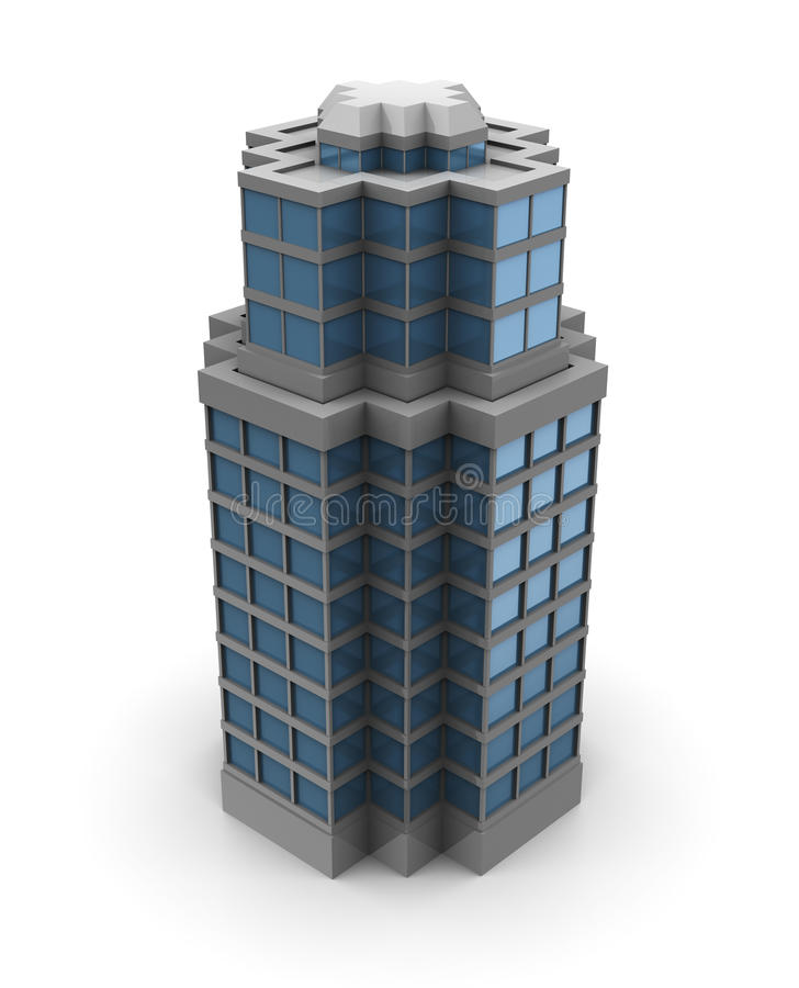 3d city building royalty free illustration