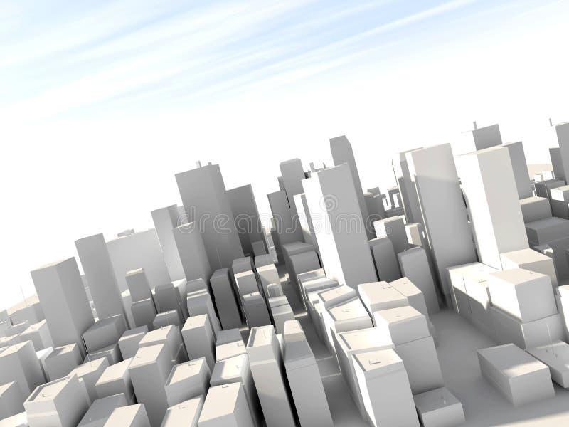 3D city model stock illustration