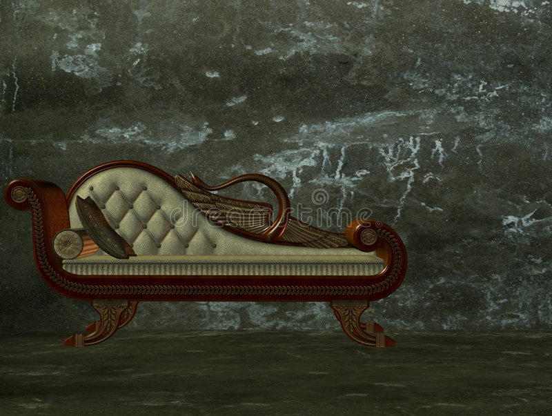 Download 3d classical chaise longue stock illustration. Image of cushion - 6961502