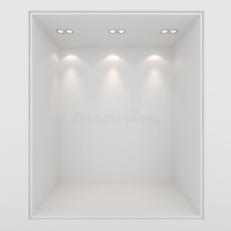 3d Clay Render Of An Empty Presentation Showcase Royalty Free Stock Photography