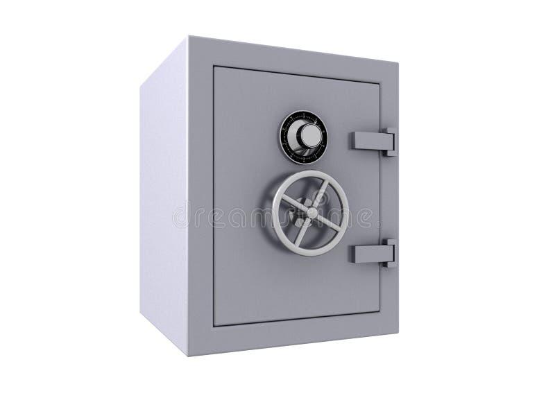 3D Closed bank vault vector illustration