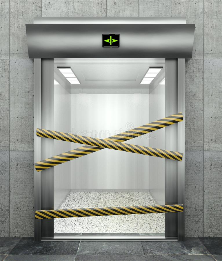 Download 3d Closed Elevator With Open Door Stock Illustration - Illustration of home, architecture: 22680541
