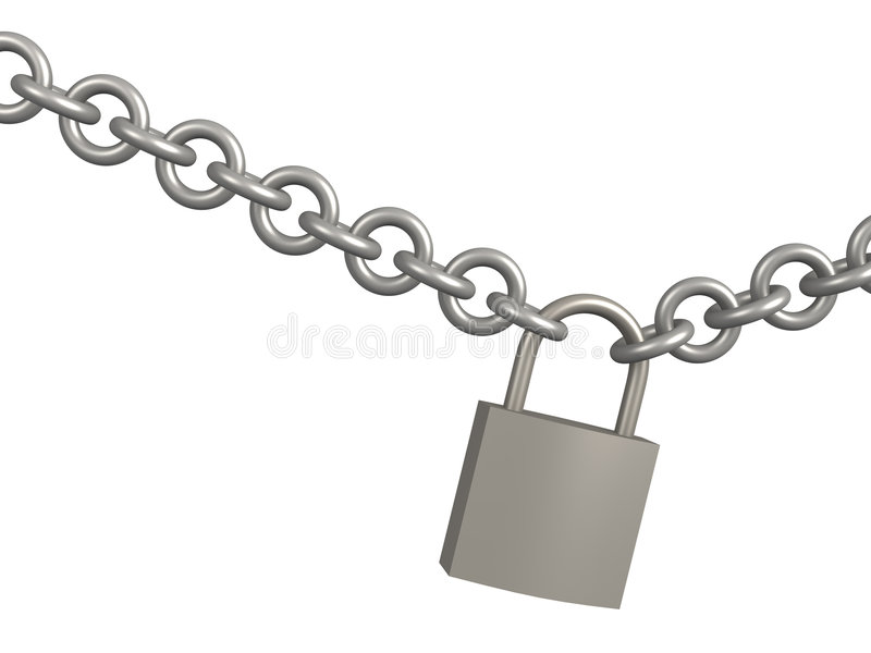 Download 3d Closed Lock, Hanging On A Circuit Stock Photo - Image: 5209770