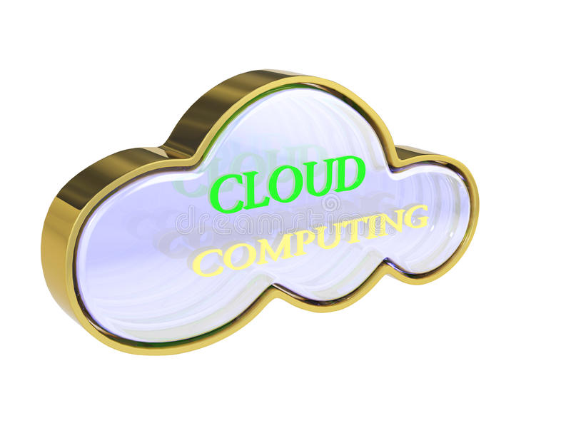 3D Cloud Computing Concept Royalty Free Stock Photography