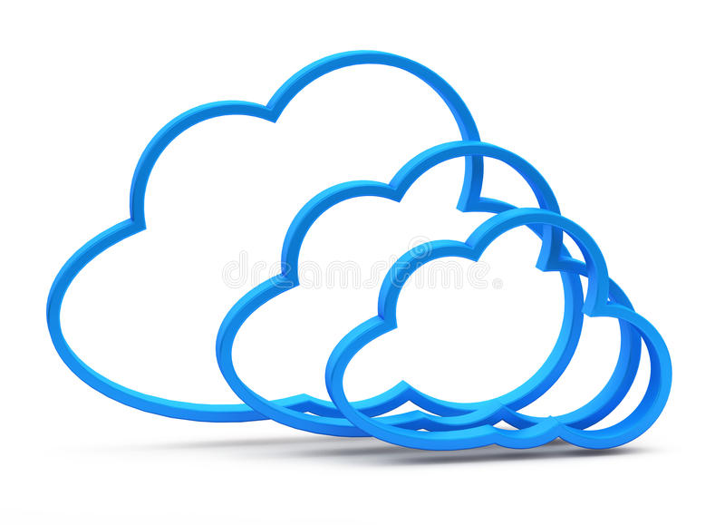 Download 3d cloud computing icon stock illustration. Image of light - 26915221