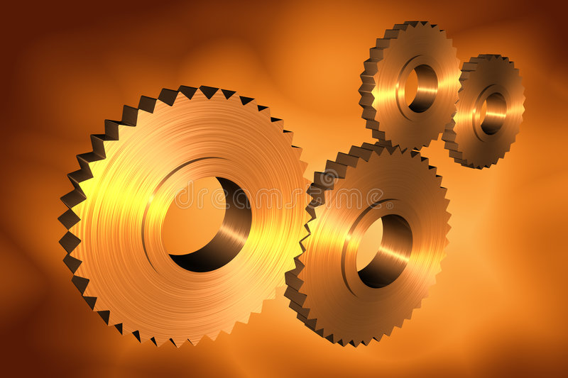 3d cogs royalty free illustration