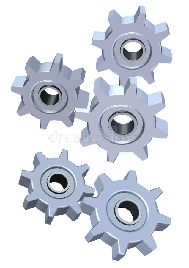 Download 3d Cogwheel stock illustration. Illustration of element - 18279857