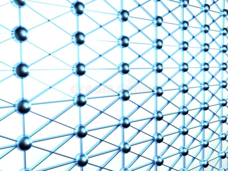 3d collegamenti, concetto del Internet illustrazione di stock