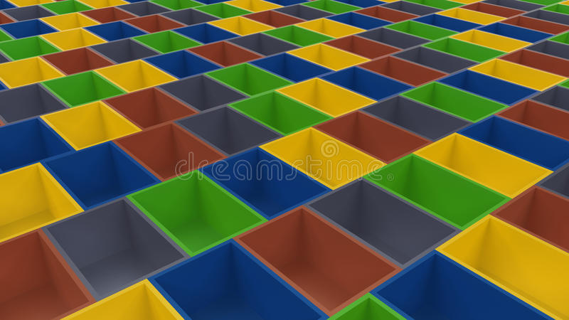 3d color cells array royalty free illustration