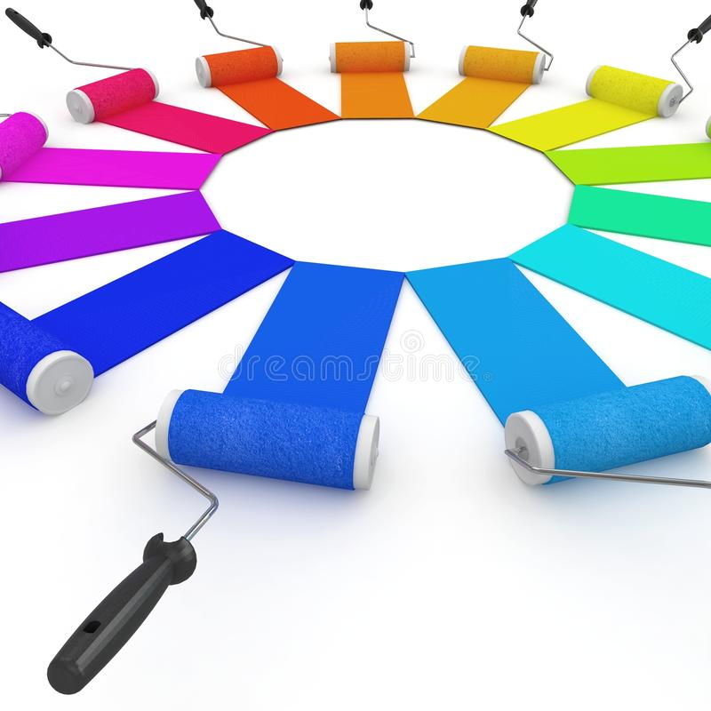 Download 3d Color Wheel With Rollers Stock Images - Image: 16264054