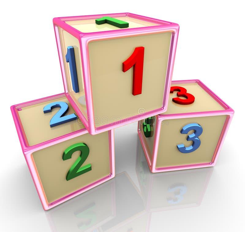 Download 3d colorful 123 cubes stock illustration. Image of kindergarten - 21771109