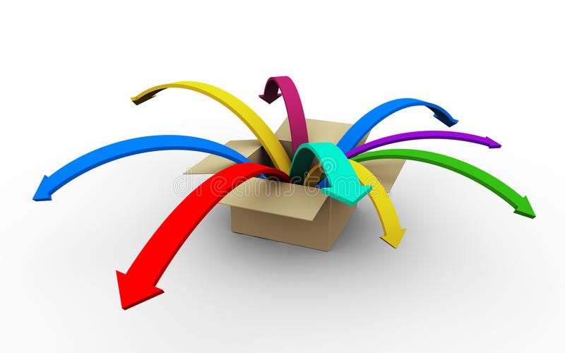 3d colorful arrows royalty free illustration