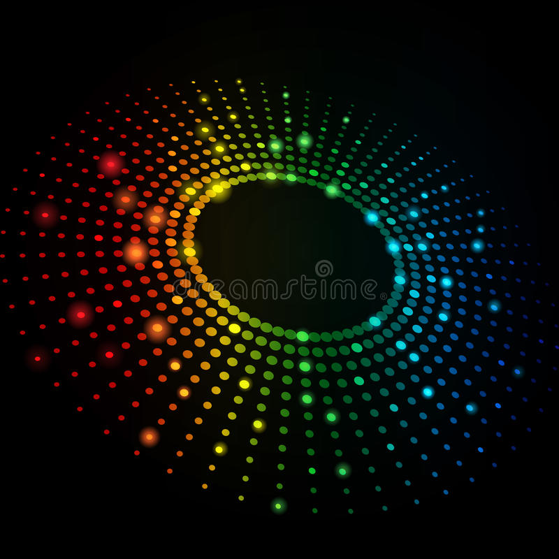 3D Colorful Dots Abstract Vector Background vector illustration