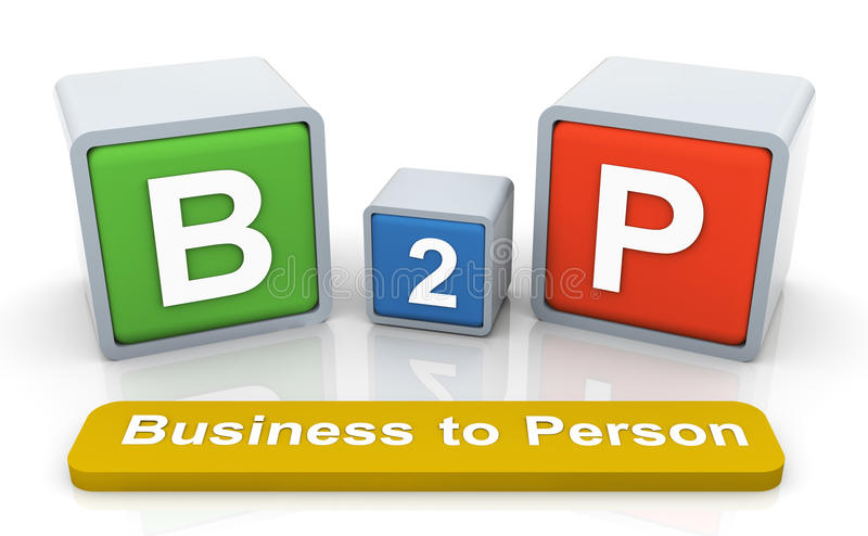 Download 3d colorful textbox 'b2p' stock illustration. Image of white - 20665778