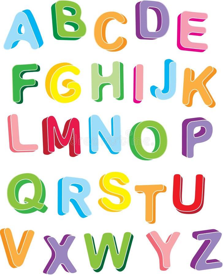 3d colorfull alphabet