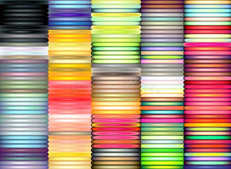 3d colors glansiga åtskilliga rør royaltyfri illustrationer
