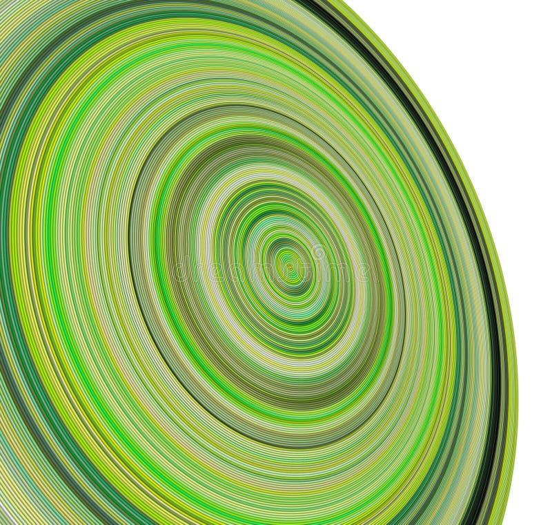 3d colors koncentriska gröna rør royaltyfri illustrationer