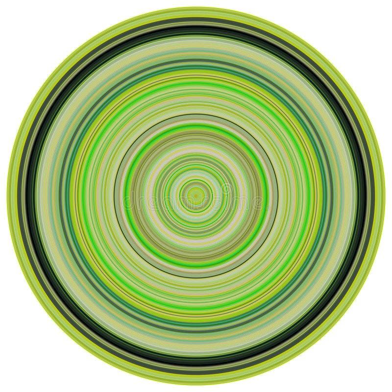 3d colors koncentriska gröna rør framför royaltyfri illustrationer