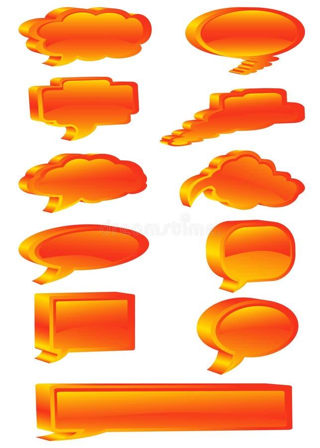 3d communicatie bellen stock illustratie
