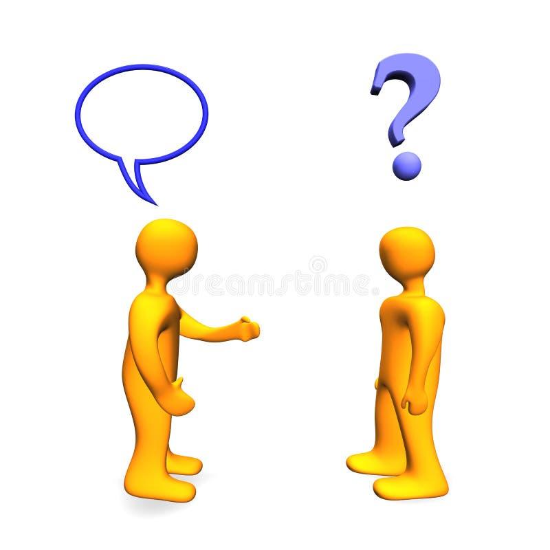3d communicaton problem ilustracja wektor