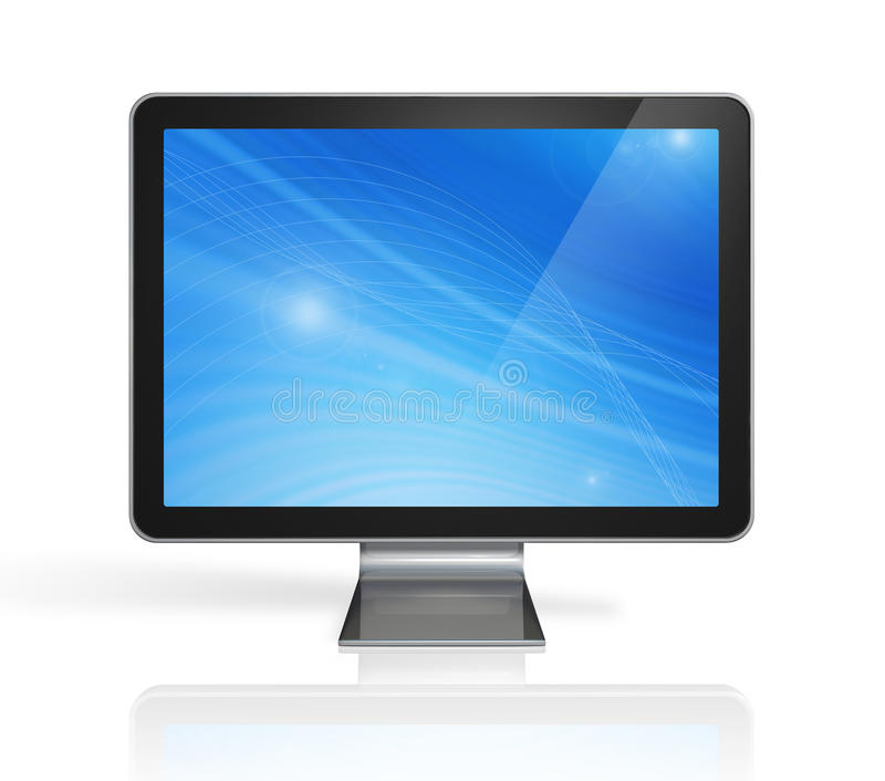 3D computador, tela da televisão ilustração stock