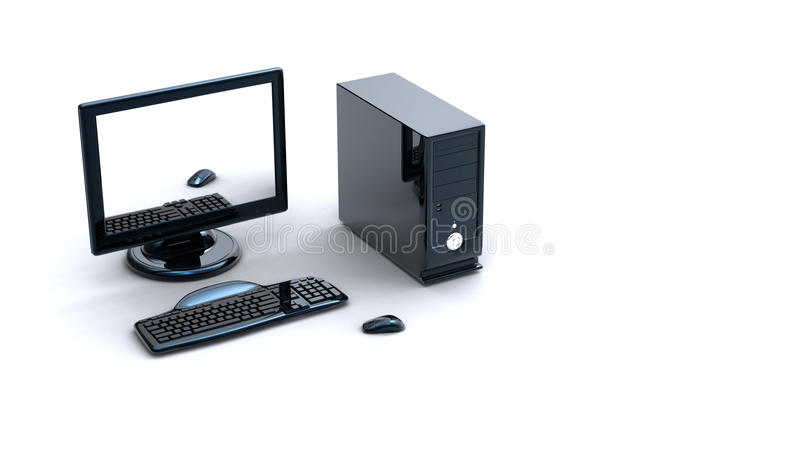 3d computer stock illustratie
