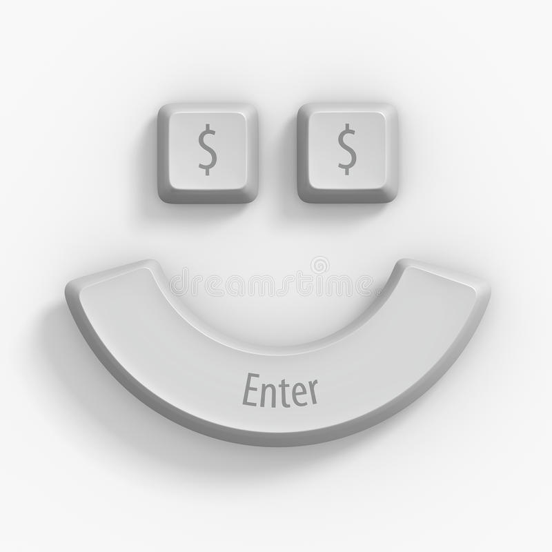3d computer keys on white royalty free stock photo