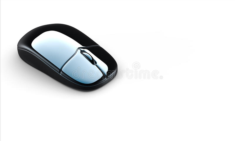 3d computer mouse. Modern computer mouse isolated on white background royalty free illustration