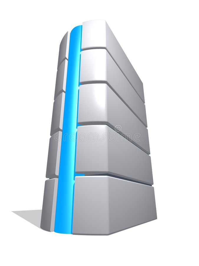 3d computer tower 1 vector illustration