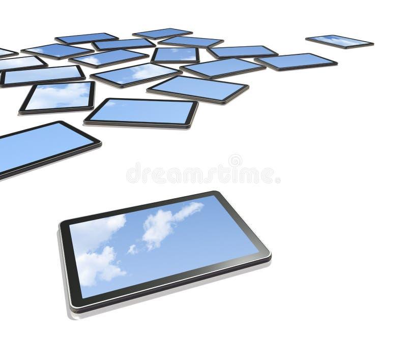 3D computers, TV screens vector illustration