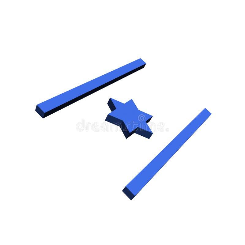 3d a conçu l'indicateur de l'Israël illustration de vecteur