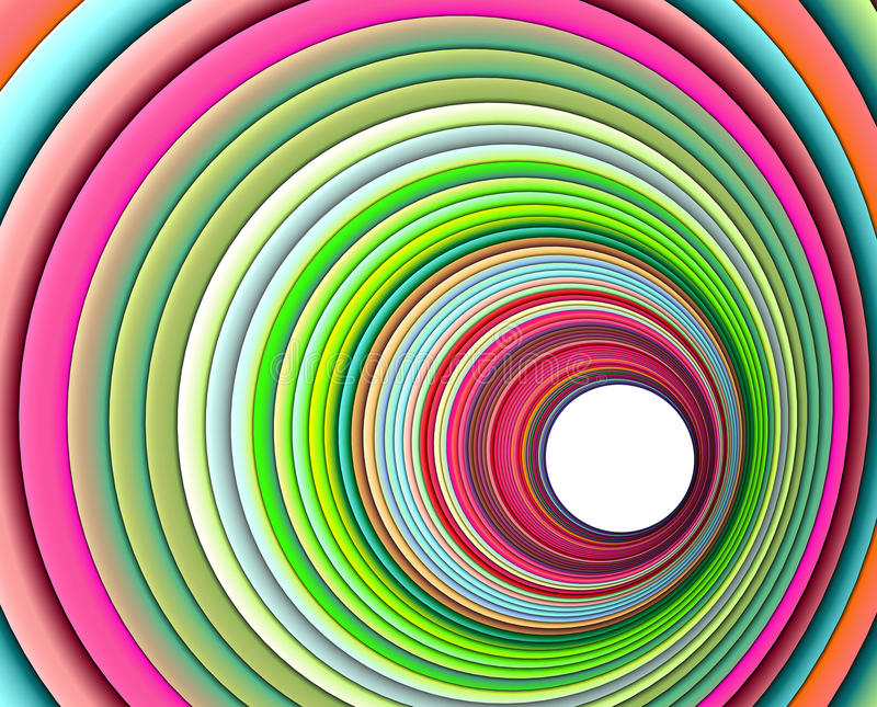 Download 3d Concentric Pipes In Multiple Colors Royalty Free Stock Photography - Image: 23551877