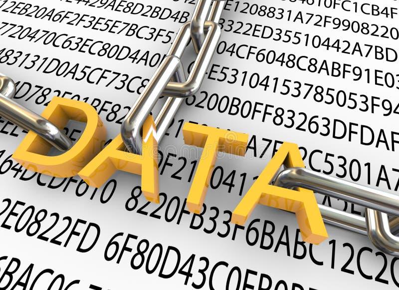 3d concept gegevensveiligheid vector illustratie