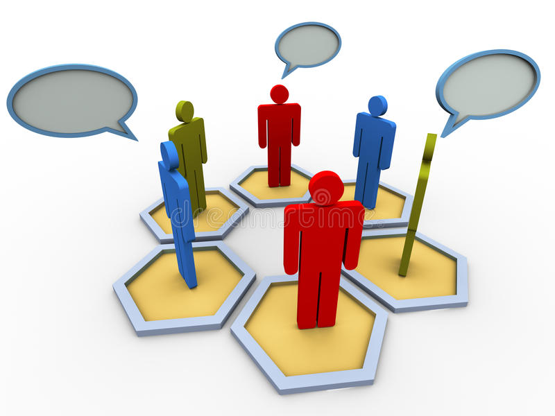 3d concept of group discussion