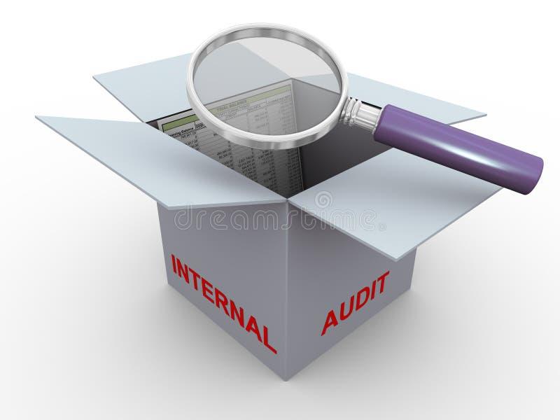 3d concept of internal audit vector illustration