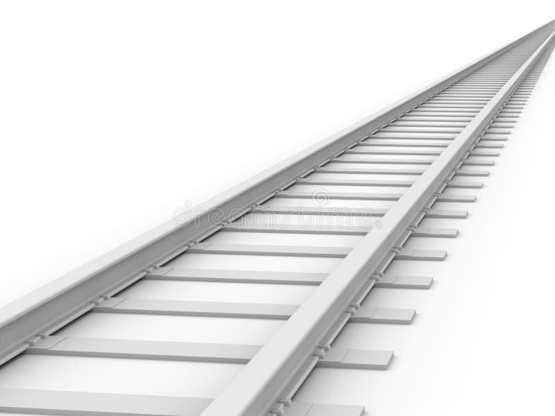 3D concept - piste sans fin de train illustration stock