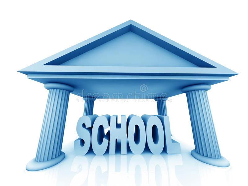 Download 3d concept of school stock illustration. Image of education - 17243517