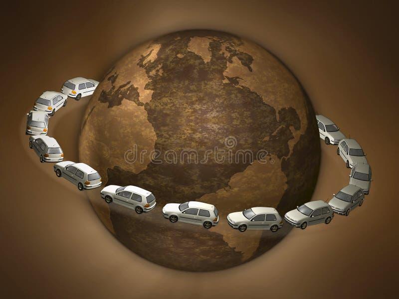 3d concept traffic jam stock illustration