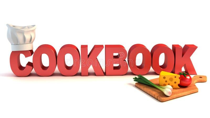 3d concept van het kookboek royalty-vrije illustratie