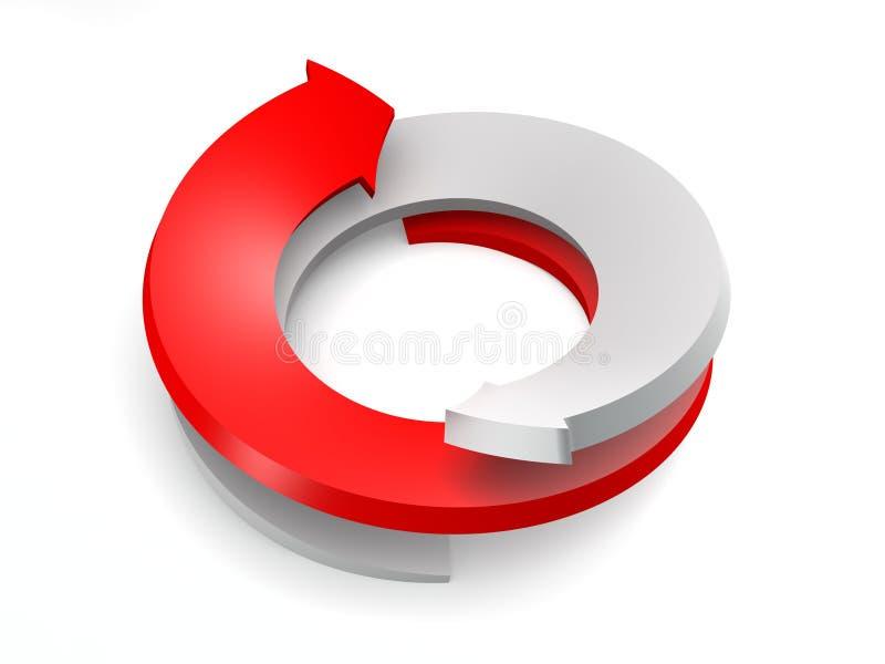 3d conceptual rendeu a imagem da seta ilustração do vetor