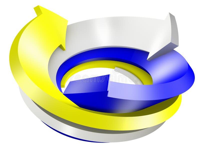 3d conceptual rendeu a imagem da seta ilustração stock